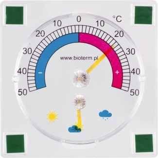 Bioterm Teploměr externí -50°C do +50°C, 90 x 90mm, samolepicí