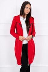 Kesi Mikinové šaty s kapucí, červená, velikost Universal