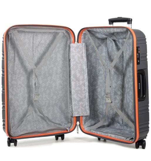 Rock Cestovní kufr ROCK TR-0164/3-M PP - černá/modrá
