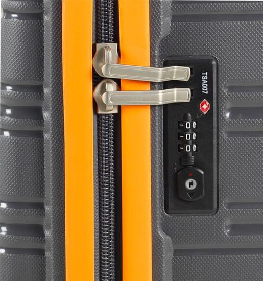 Rock Cestovní kufr ROCK TR-0164/3-L PP - černá/modrá