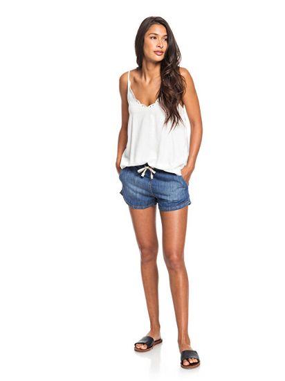 Roxy Ženske kratke hlače Go To The Beach srednje Blue ERJDS03213-BMTW