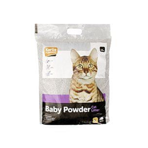 Karlie podestýlka pro kočky s BABY POWDER vůní 15 kg