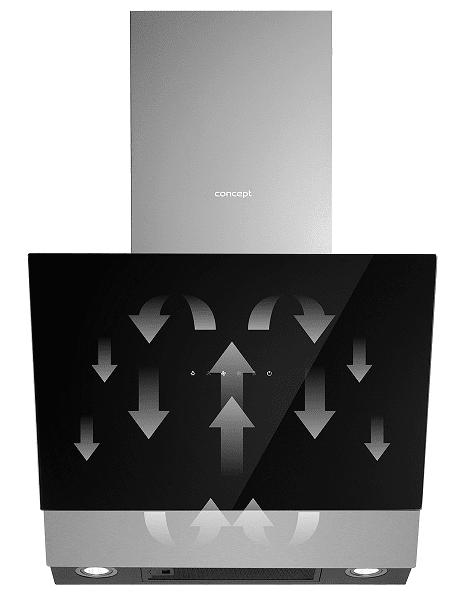 Okap kominowy Concept OPK5460ss recyrkulacja
