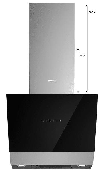 Okap kominowy Concept OPK5460ss regulowana wysokość
