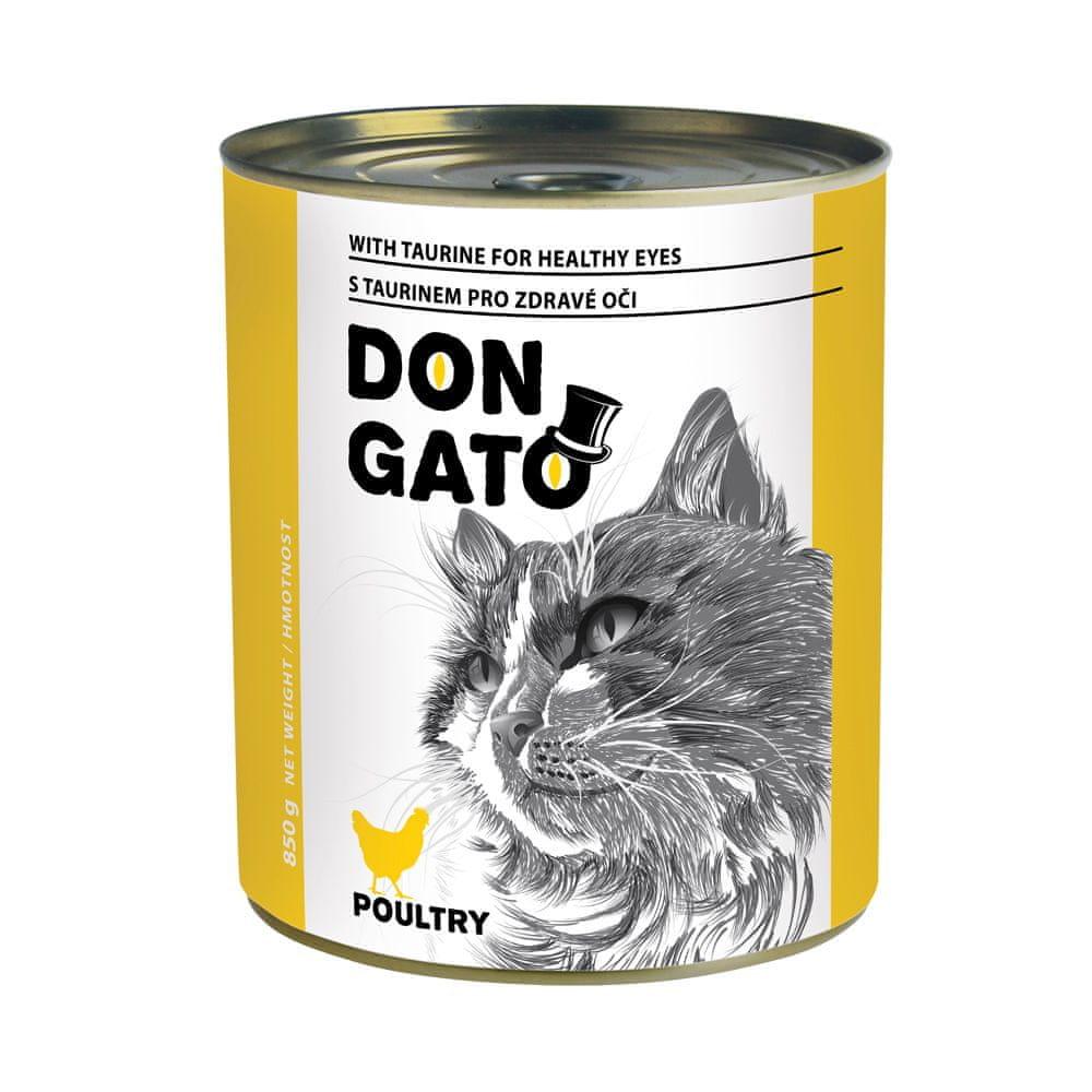 Dibaq DON GATO konzerva kočka drůbeží 6x850 g