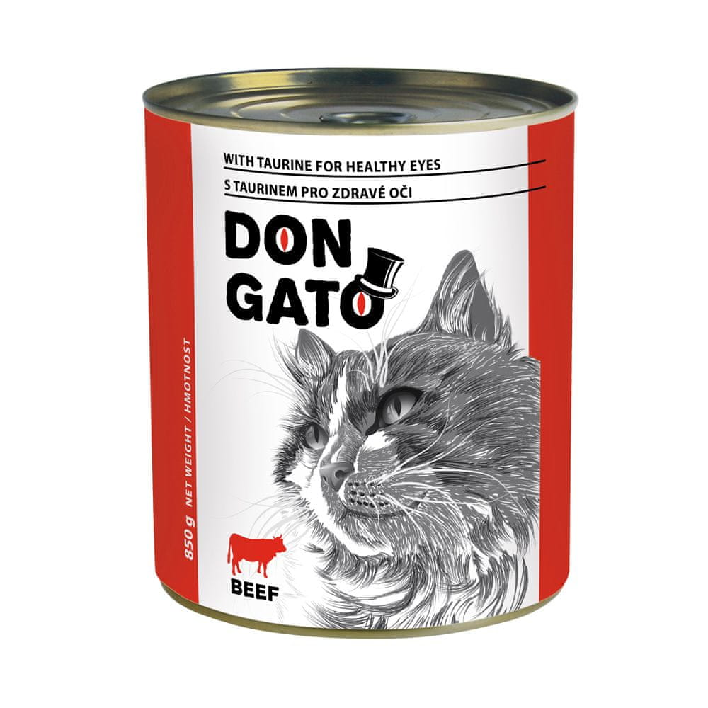 Dibaq DON GATO konzerva kočka hovězí 6x850 g