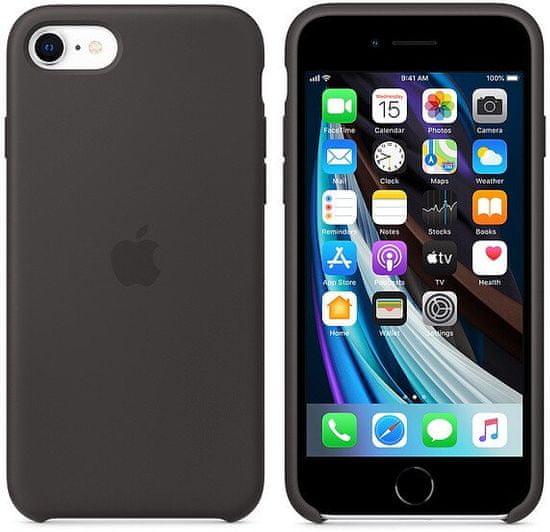 Apple iPhone SE2 Silicone Case ovitek, Black