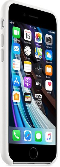 Apple iPhone SE2 Silicone Case ovitek, White