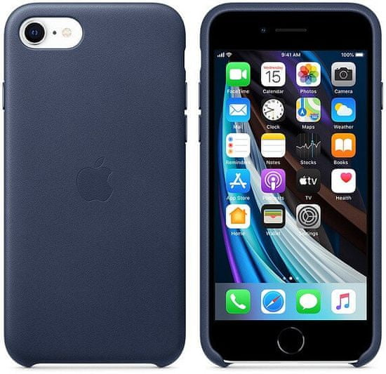 Apple iPhone SE2 Leather Case ovitek, Midnight Blue