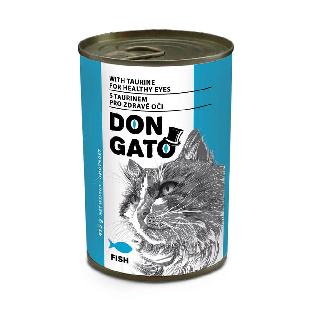 Dibaq DON GATO konzerva kočka ryba 10x415 g