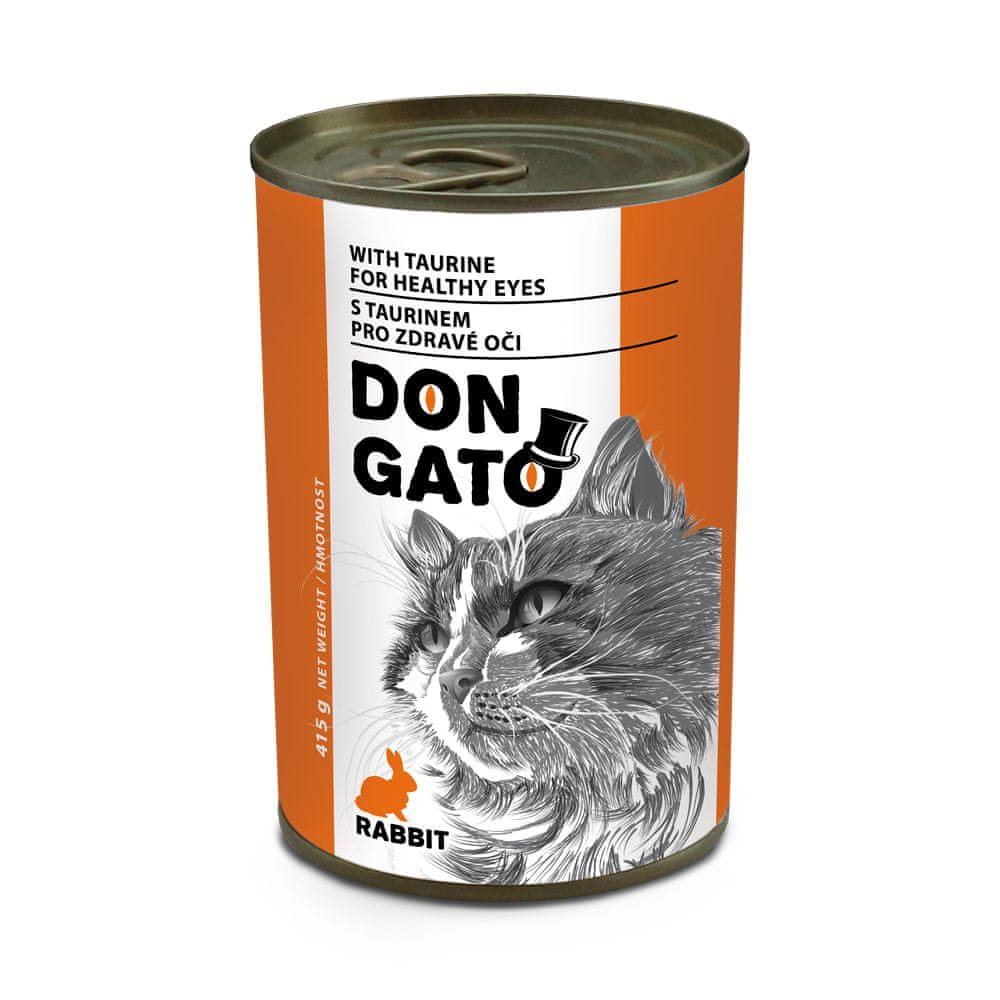 Dibaq DON GATO konzerva kočka králík 10x415 g