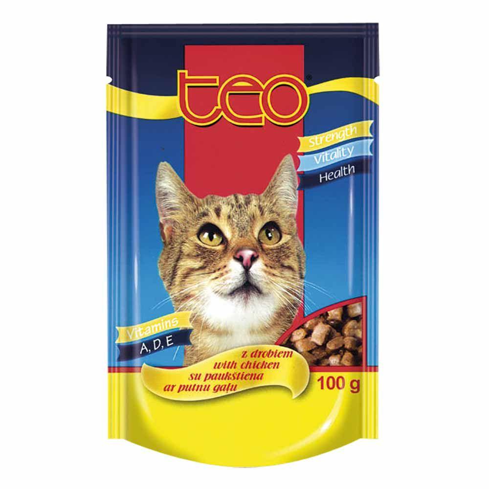 Dibaq TEO paštika kočka drůbeží 14x100 g