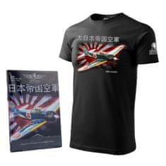 Tričko s letadlem z druhé světové války MITSHUBISHI A6M ZERO - M