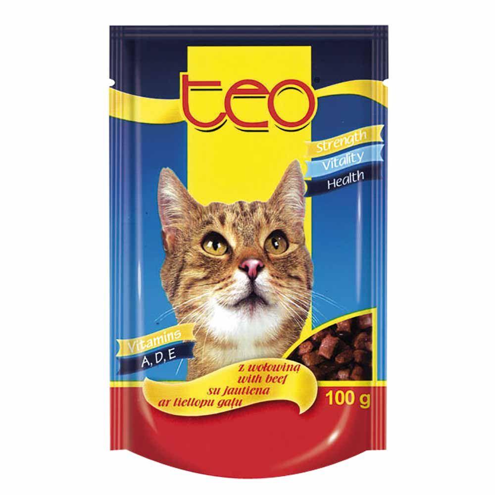 Dibaq TEO kapsička kočka hovězí 24x100 g