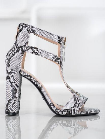 Moderní sandály se zvířecím motivem dámské na širokém podpatku + Ponožky Gatta Calzino Strech