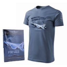 ANTONIO Tričko s vojenským letadlem F-15C EAGLE - M