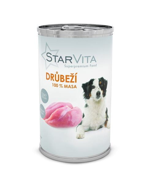 Starvita konzerva drůbeží mleté 1200 g