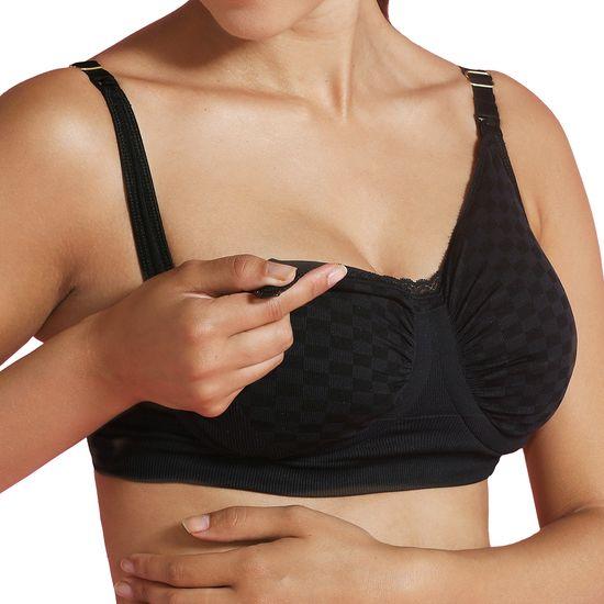 Carriwell Kojící podprsenka s Carri-Gel kosticemi vzor černá kostka