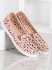 Női balerina cipő 64203, rózsaszín árnyalat, 36