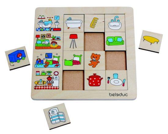 Beleduc Třídící puzzle MŮJ DOMOV