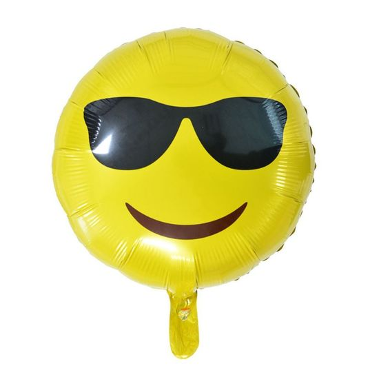 Fóliový balónik Smile - Smajlík okuliare - 45 cm