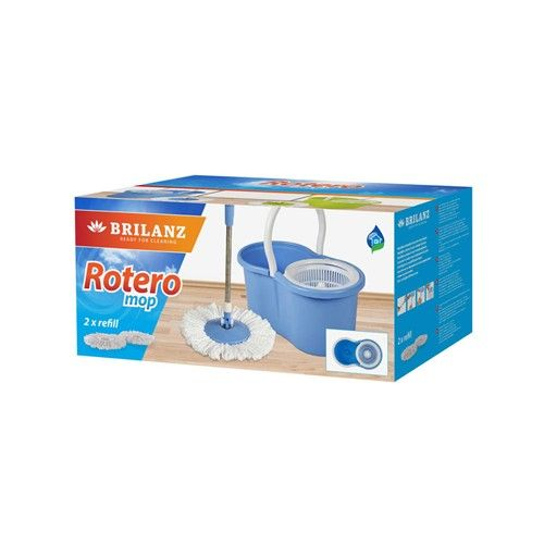 BRILANZ Mop set ROTERO, 2 ks hlavíc, modrý