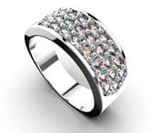 Jewstone Stříbrný prsten - kubický zirkon 6,1 g, Ag 925/1000+Rh