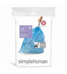 Simplehuman worki do kosza na śmieci 16-18 l, typ V zamykane, 20 szt.