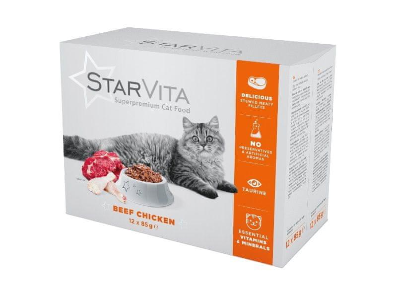 Starvita kapsičky pro kočky 12x85 g