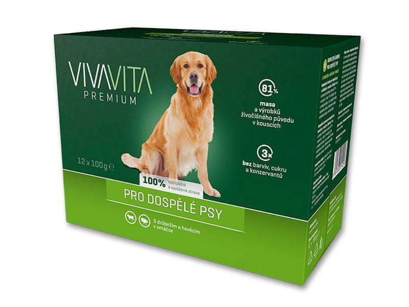 Vivavita kapsičky pro psy 12x100 g