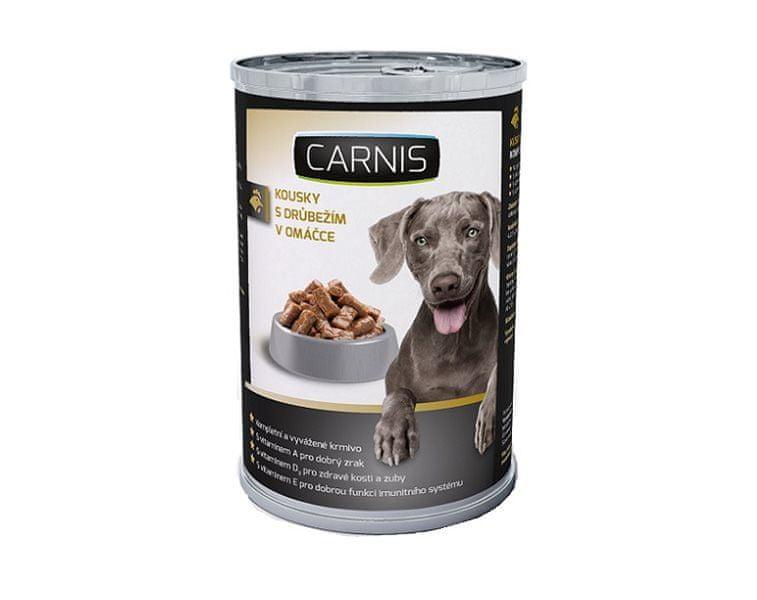 Carnis konzerva kousky s drůbežím 1240 g