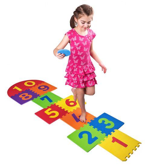 Plastica Hab padló puzzle ugráló figura