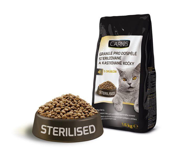 Carnis granule pro kastrované kočky 1,6 kg