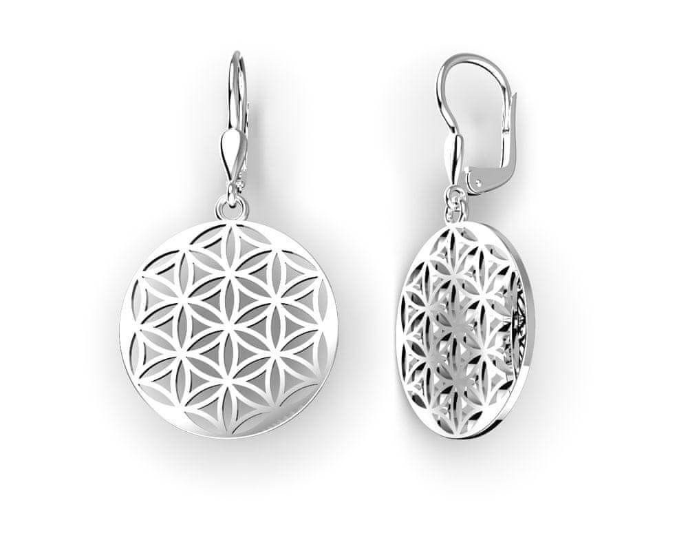 Jewstone Stříbrné mystické náušnice Mandala – Květ života