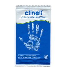 Clinell Clinell Clinell Antimicrobial Hand Wipes 100