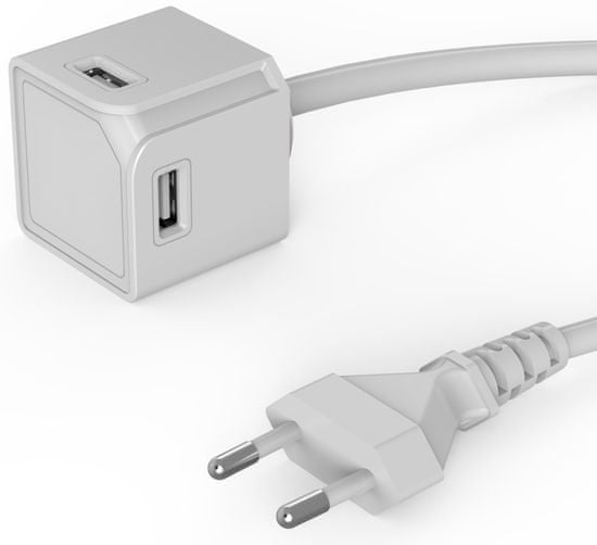 Allocacoc polnilnik USBcube Extended 4× USB-A White, bel