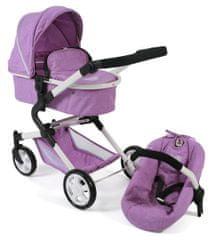 Bayer Chic Lia voziček z avtosedežem za lutke, vijoličen