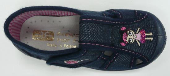 3F kapcie płócienne dziewczęce Zabka1F5/13