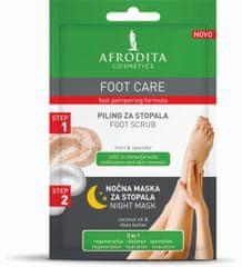Kozmetika Afrodita Foot Care piling (5 ml) + nočna maska (4 ml), za stopala