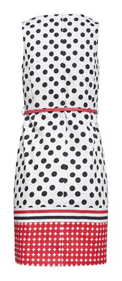 Smashed Lemon Ženska obleka 20026 Black - White / rdeča
