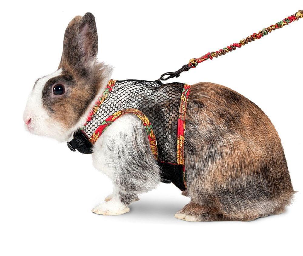 Karlie postroj s vodítkem pro králíky L