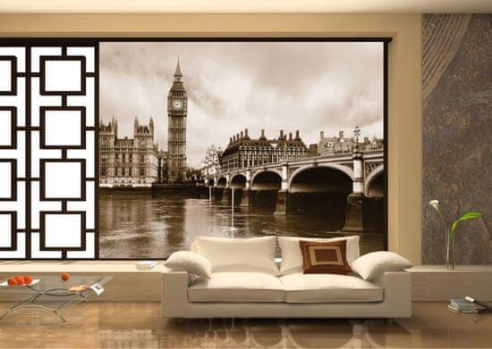 AG design 4 dílná fototapeta LONDON FTS 0480, 360 x 254 cm papír
