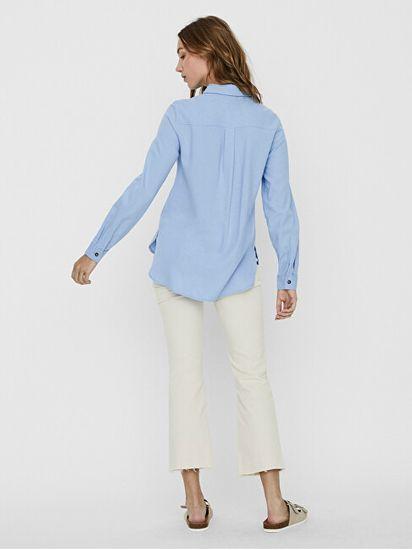 Vero Moda Koszula VMHELENMILO LS SHIRT WVN Pl acidBlue