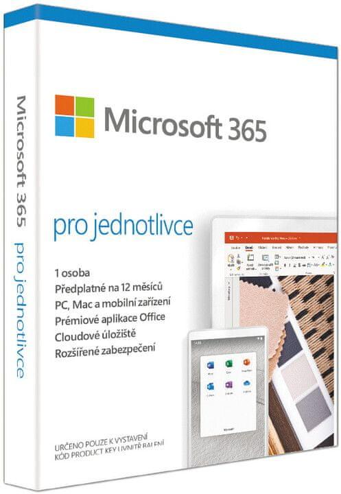 Microsoft Microsoft 365 pro jednotlivce (elektronická licence)