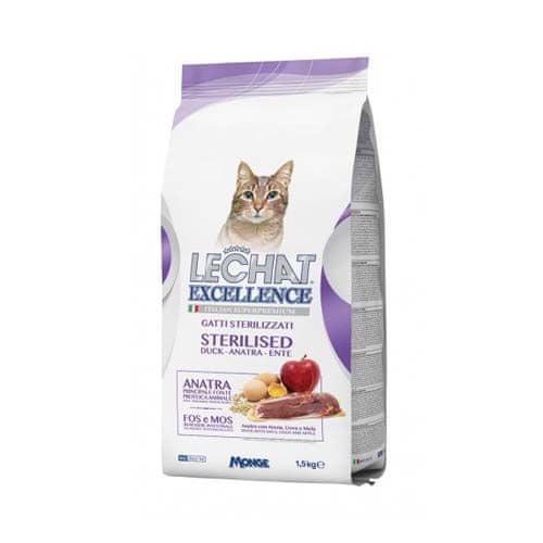 Monge LECHAT EXCELLENCE STERILIZED 1,5kg kachní superprémiové krmivo pro kočky