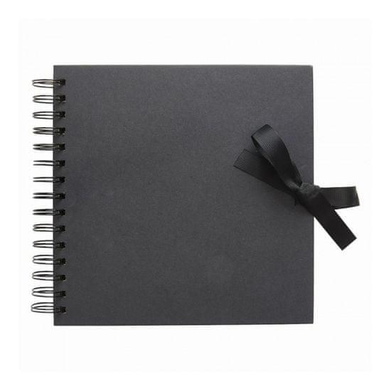 Kroužkové album na fotografie i scrapbooking černé 20 x 20 cm