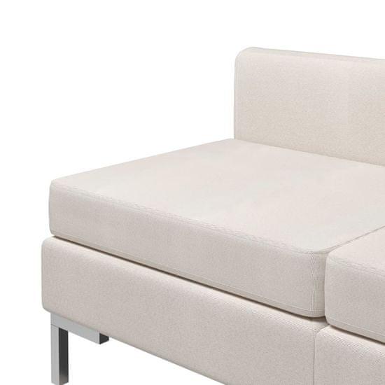 shumee Sekcijski sredinski kavči 2 kosa z blazinami blago krem