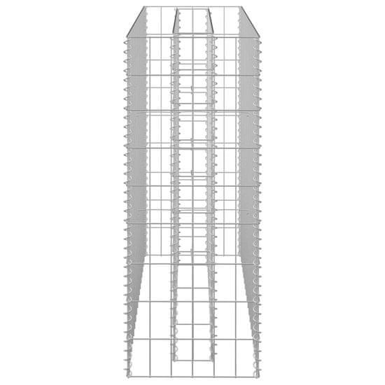 Greatstore Gabiónový vyvýšený záhon, pozinkovaná oceľ 90x30x90 cm