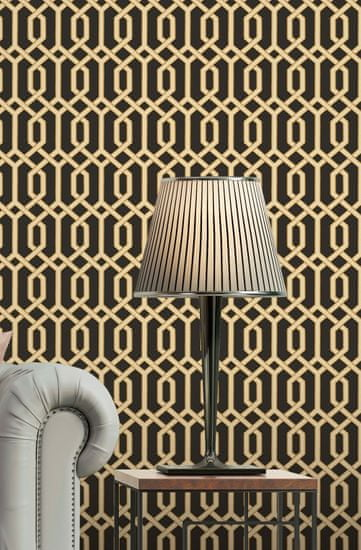 Design ID Luxusní geometrická vliesová tapeta na zeď BA220015, Beaux Arts 2, Design ID, Afrodita, Vavex