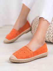 Női balerina cipő 64324 + Nőin zokni Gatta Calzino Strech, narancssárga árnyalat, 36